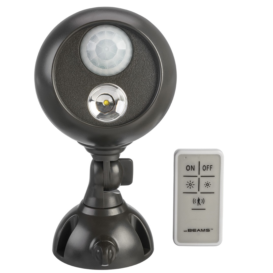 Mr beams wireless motion sensor led spotlight w remote - Remote control exterior light switch ...