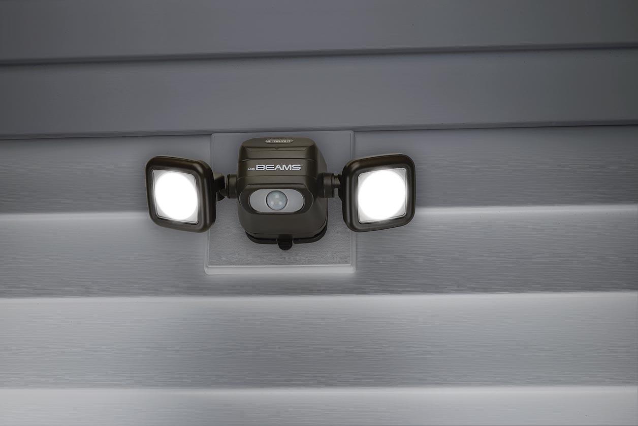MR BEAMS MBN3000 serieforbundne udendørslamper i brug